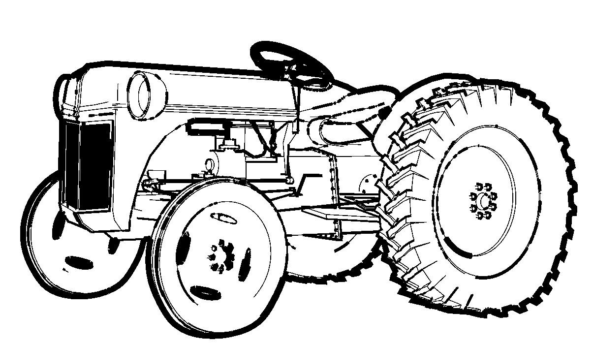 Images For > Blender Coloring Page | Tractor Coloring avec Tracteur A Colorier