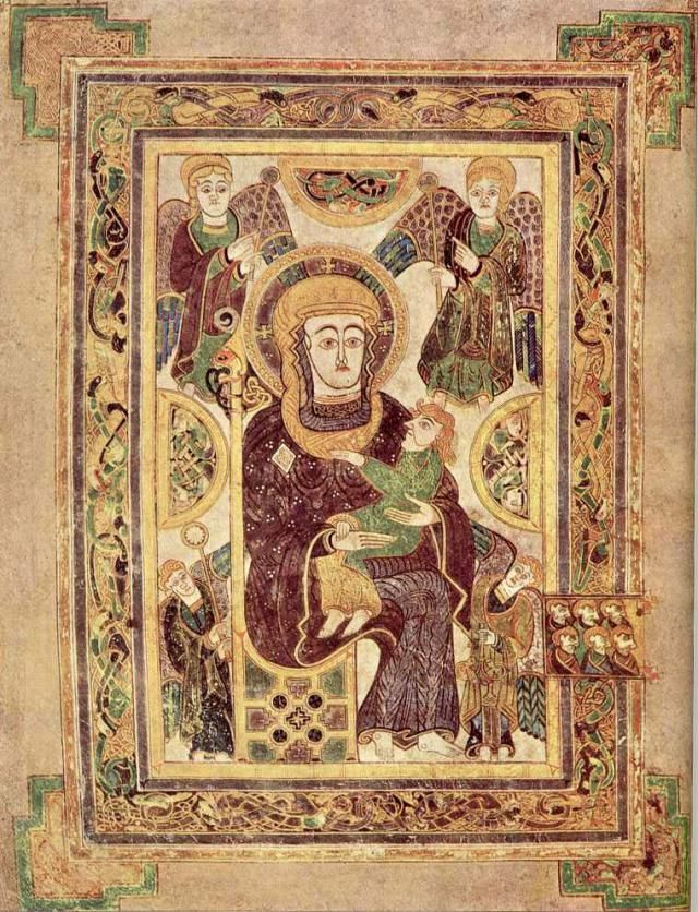 Images From The Book Of Kells | Book Of Kells | Pinterest destiné Script In The Book Of Kells Book