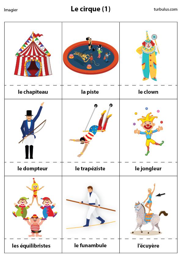 Imagier, Le Cirque (1) - Turbulus, Jeux Pour Enfants intérieur Jeux De Clown Tueur Gratuit