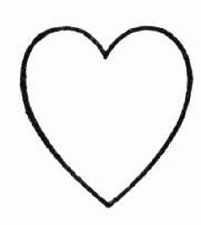 Imprime Le Dessin À Colorier De Coeur pour Dessin A Imprimer Coeur