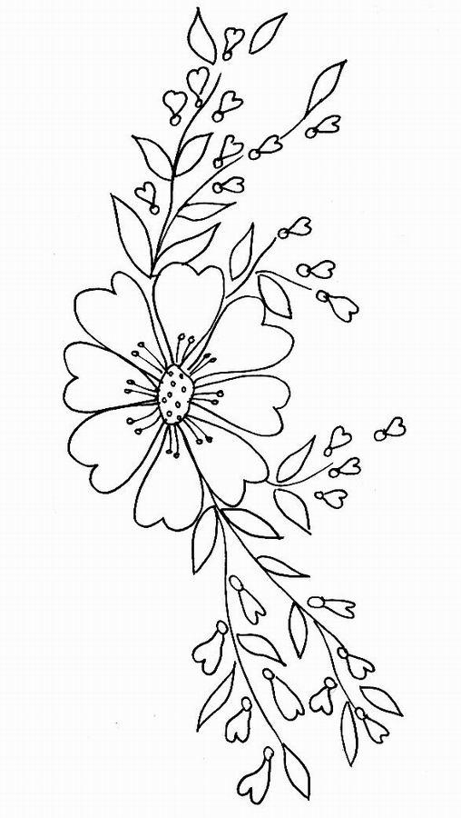 Imprime Le Dessin À Colorier De Fleur pour Dessin De Fleure