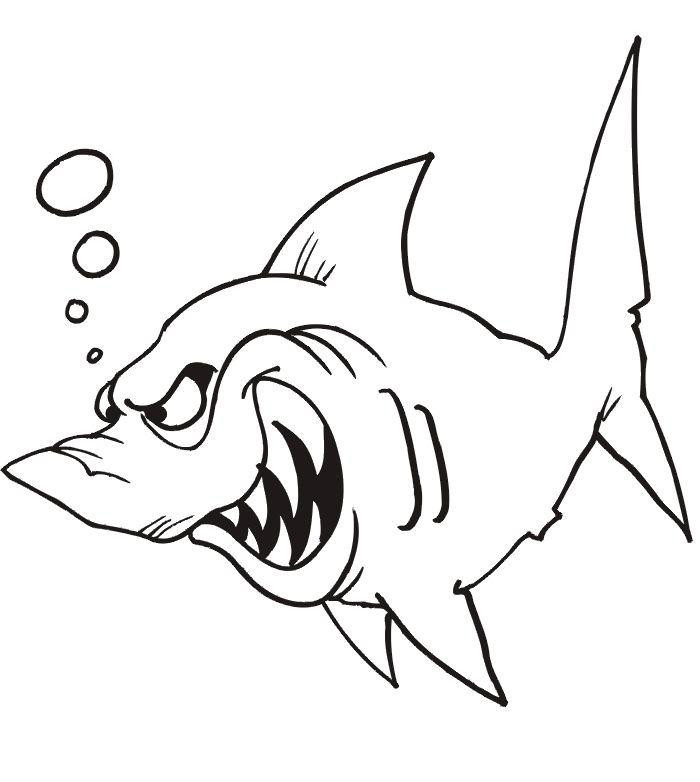Imprime Le Dessin À Colorier De Requin encequiconcerne Requin A Colorier