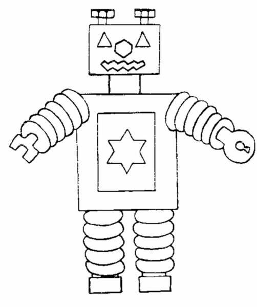 Imprime Le Dessin À Colorier De Robot tout Dessin Robot À Imprimer