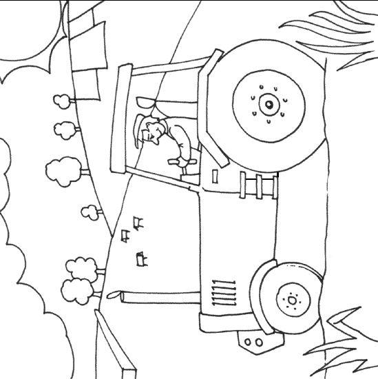 Imprime Le Dessin À Colorier De Tracteur intérieur Coloriage De Tracteur À Imprimer