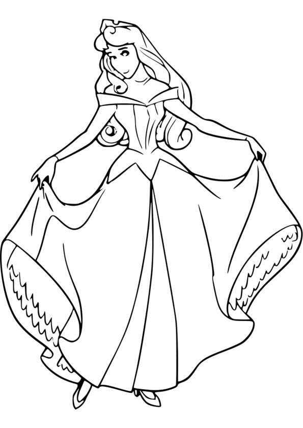 Imprimer Coloriage Princesse Sarah avec Dessin De Princesse À Colorier