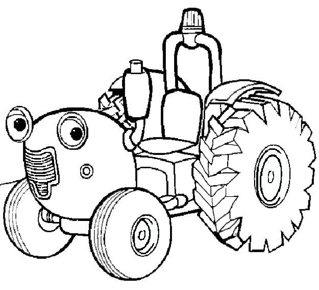 Imprimer Dessin Tracteur Tom intérieur Tracteur A Colorier