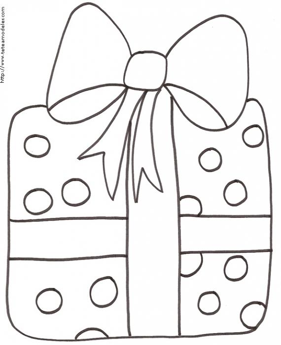 Imprimer Le Coloriage D'Un Gros Cadeau Au Papier À serapportantà Dessin Cadeau De Noel