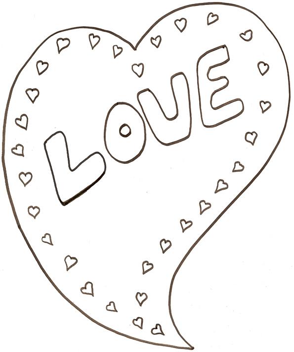 Imprimer Le Coloriage Love : Gros Coeur intérieur Dessin A Imprimer Coeur