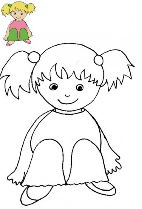 Imprimer Le Coloriage Petite Fille Blonde Avec Modèle intérieur Coloriage Avec Modèle À Imprimer