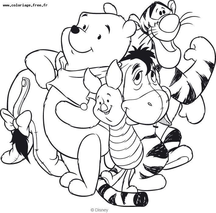 Imprimer Le Coloriage Winnie L Ourson Et Ses Amis Pour destiné Coloriage Dysney