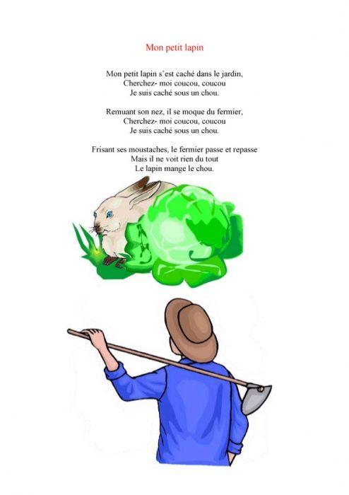 Imprimer Le Texte De La Chanson Mon Petit Lapin - Chanson pour Contine Mon Petit Lapin