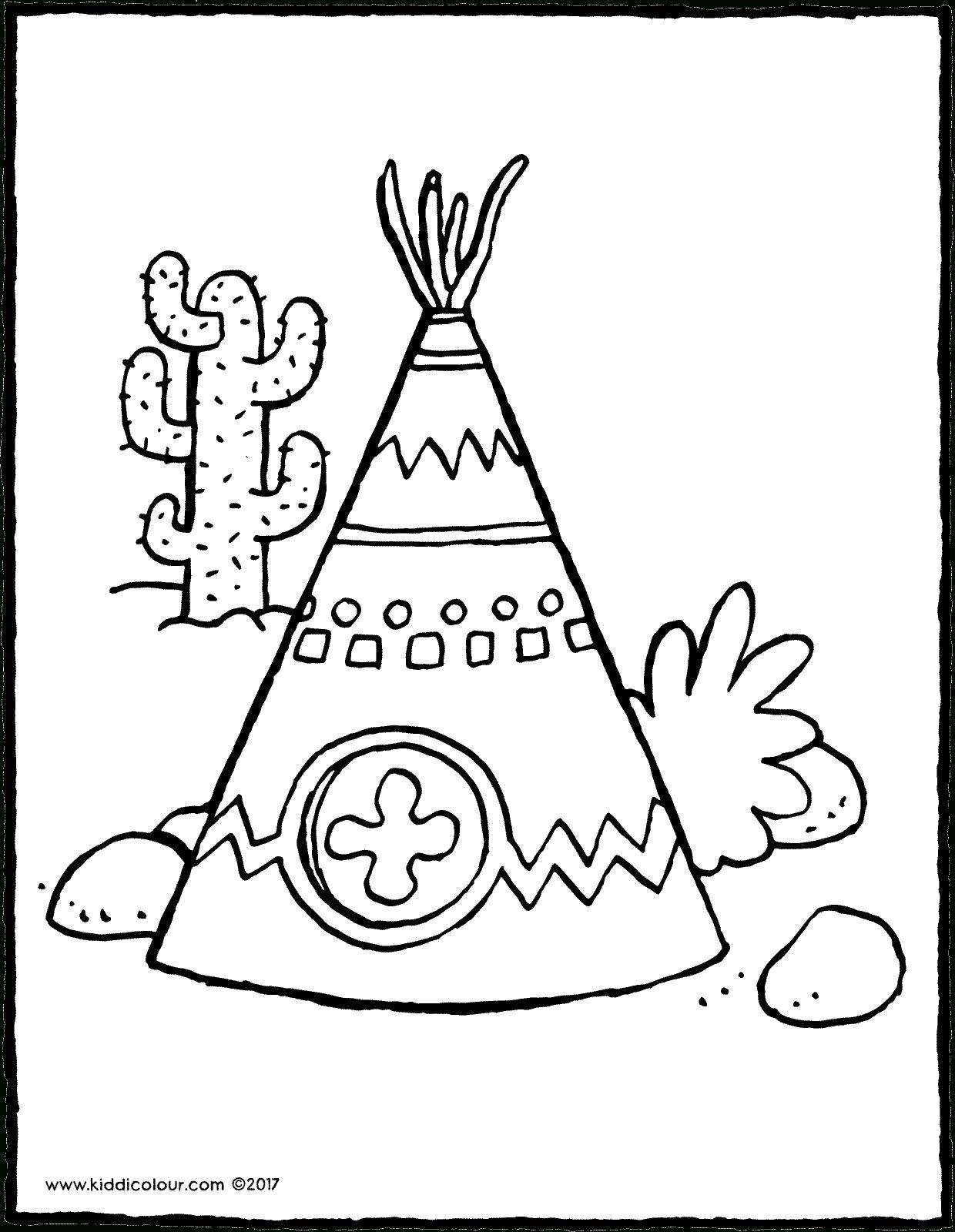Indianentent - Kiddicolour pour Tipi Dessin