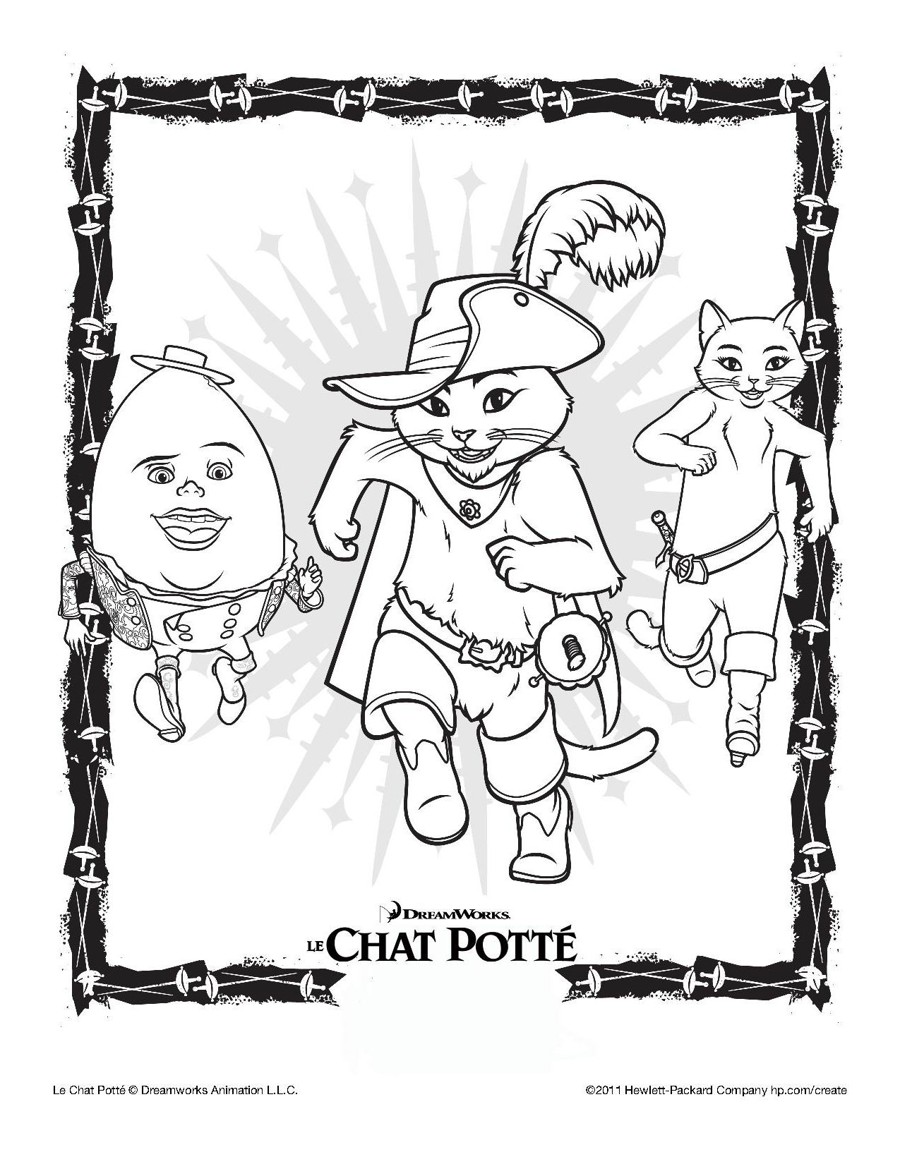 Inspirant Dessin A Colorier Du Chat Botte dedans Dessin Du Chat Botté
