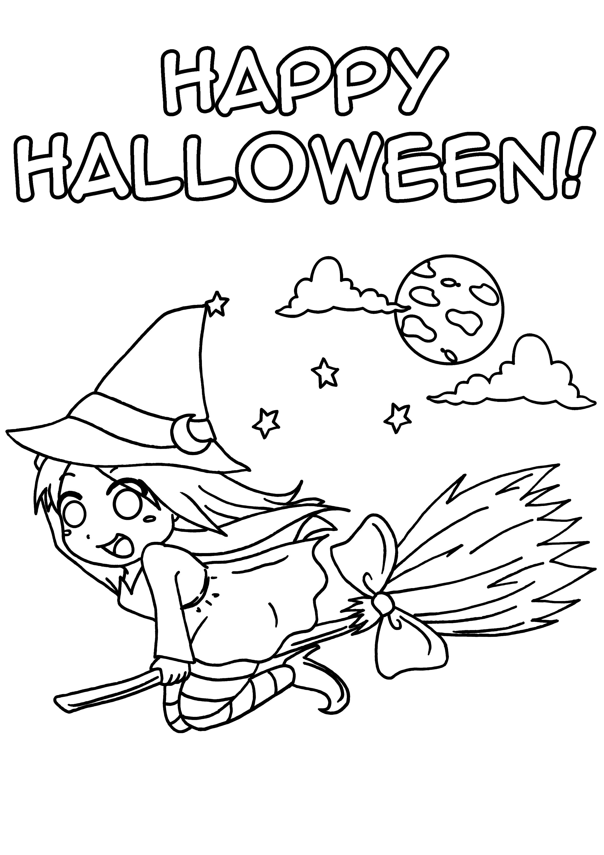 Inspirant Image A Colorier Pour Halloween serapportantà Dessin A Colorier Halloween Gratuit