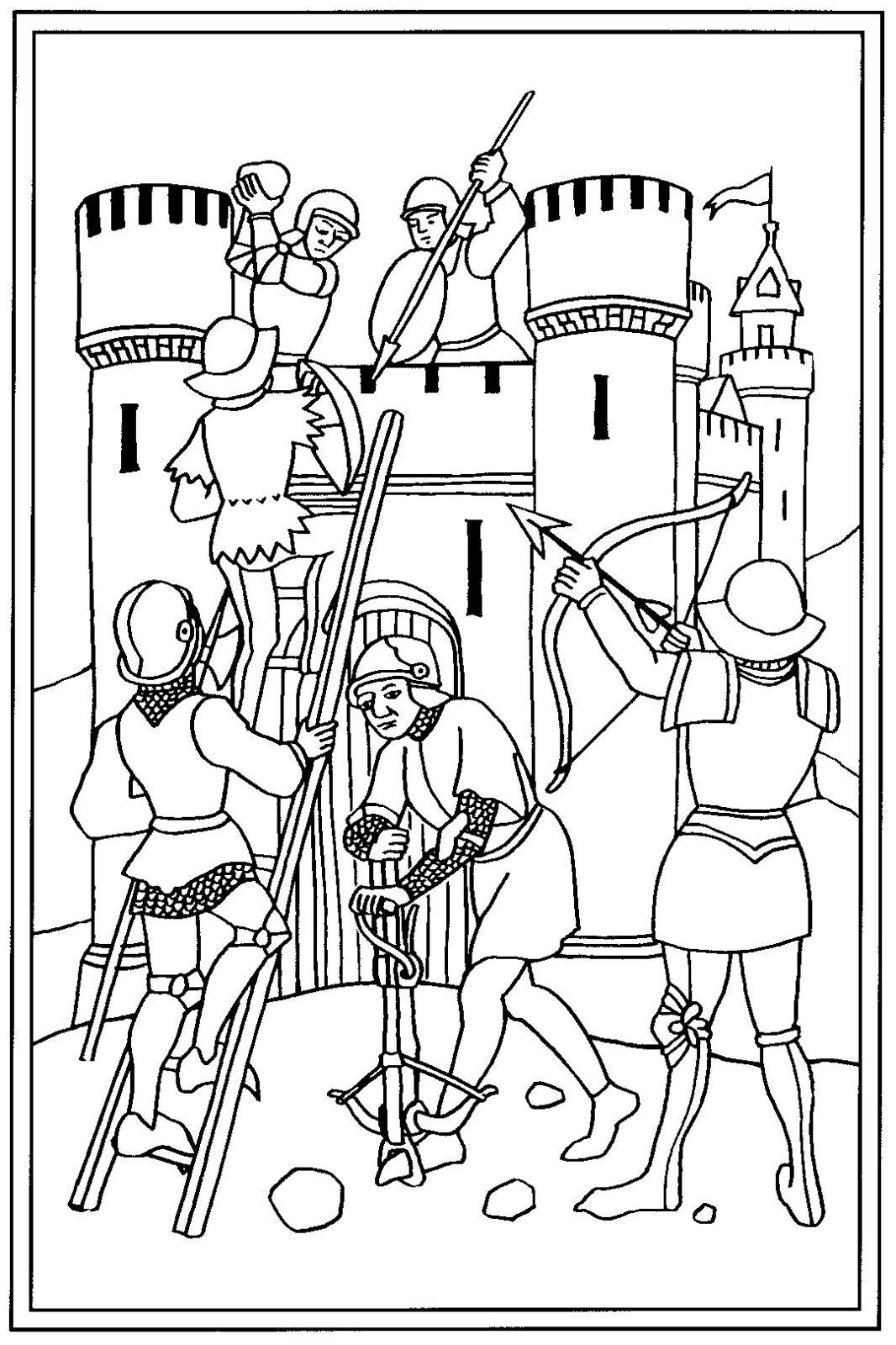 Inspiration Coloriage Fort Boyard A Imprimer | Haut pour Dessin Chateau Moyen Age