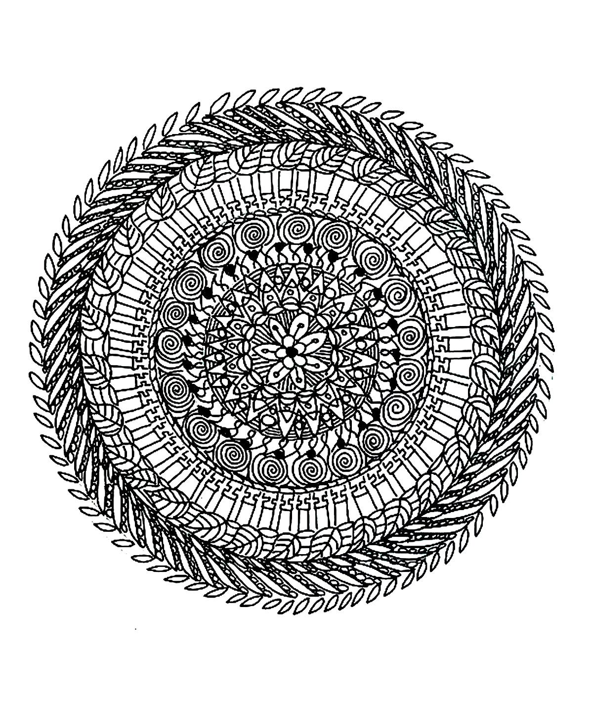 Inspiration Coloriage Mandala Tres Difficile | Imprimer Et encequiconcerne Coloriage De Mandala Difficile A Imprimer