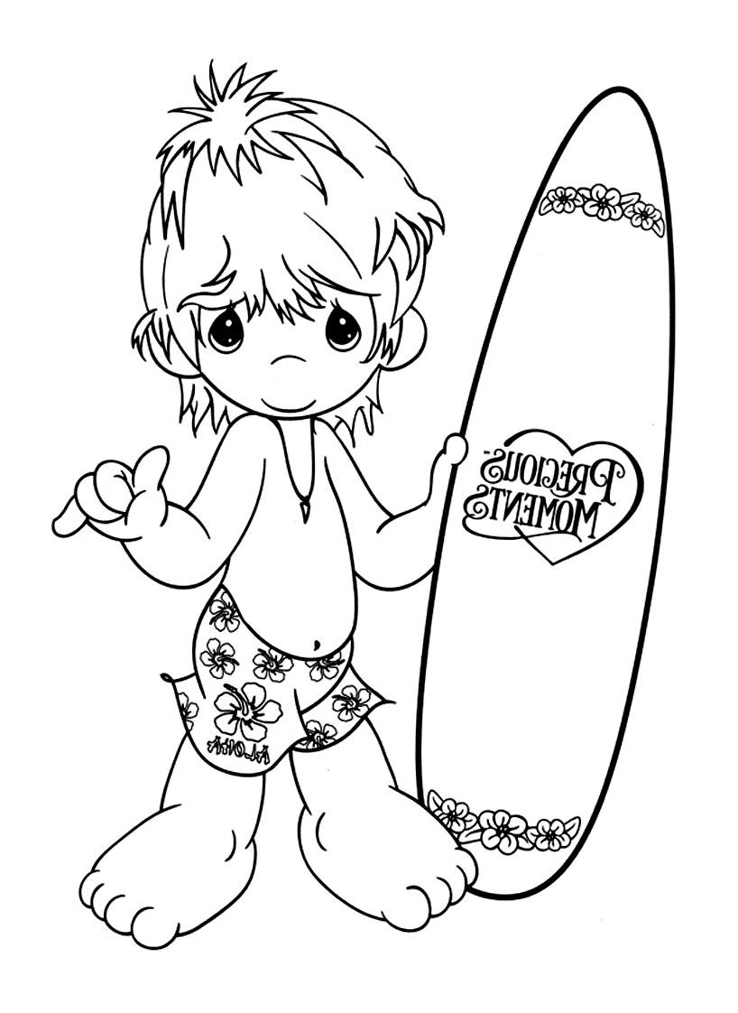 Inspiration Coloriage Surf A Imprimer | Imprimer Et pour Dessin Surfeur