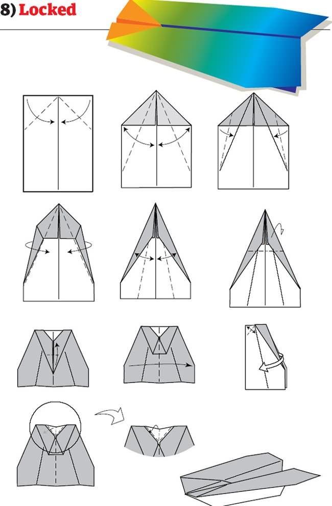 Instruction Avion Papier Mode Emploi Pliage 08 12 pour Origami Facile Avion
