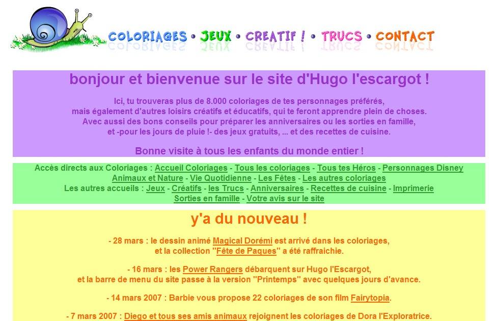 Internet Pour Les Enfants: Hugo L'Escargot - À Partir De 3 Ans encequiconcerne Jeux De Hugo L Escargot