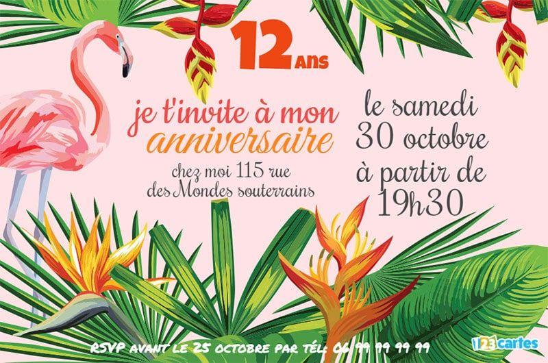 Invitation Anniversaire Flamant Rose Gratuite À intérieur Images D'Oiseaux Gratuites A Imprimer