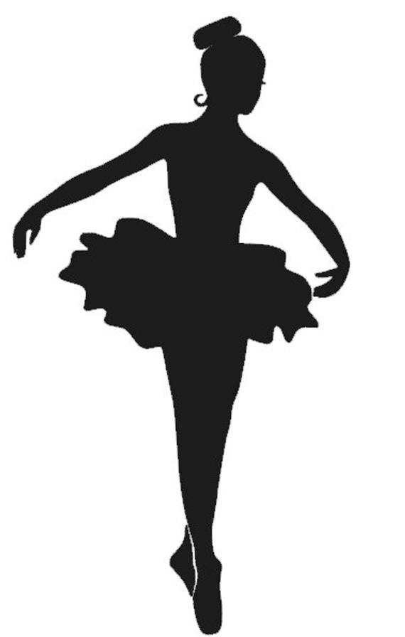 "Items Similar To 6"" Ballerina Decal On Etsy serapportantà Dessin Danseuse Classique"