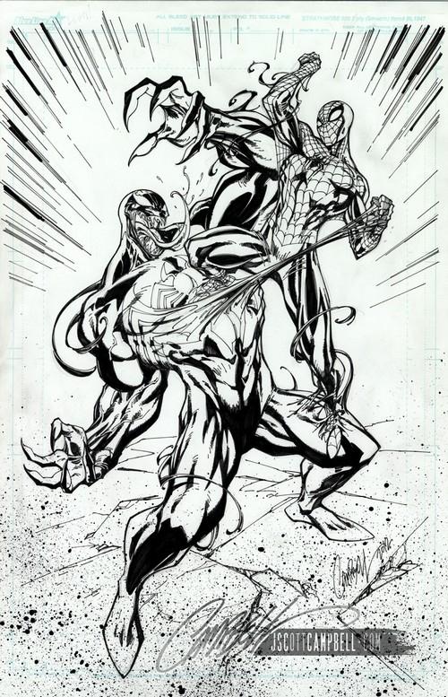 J. Scott Campbell Dessine Spidey Pour Disney intérieur Coloriage De Spiderman Noir