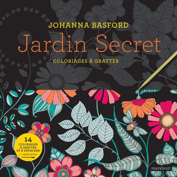 Jardin Secret - Coloriages À Gratter   Hachette.fr tout Coloriage À Gratter