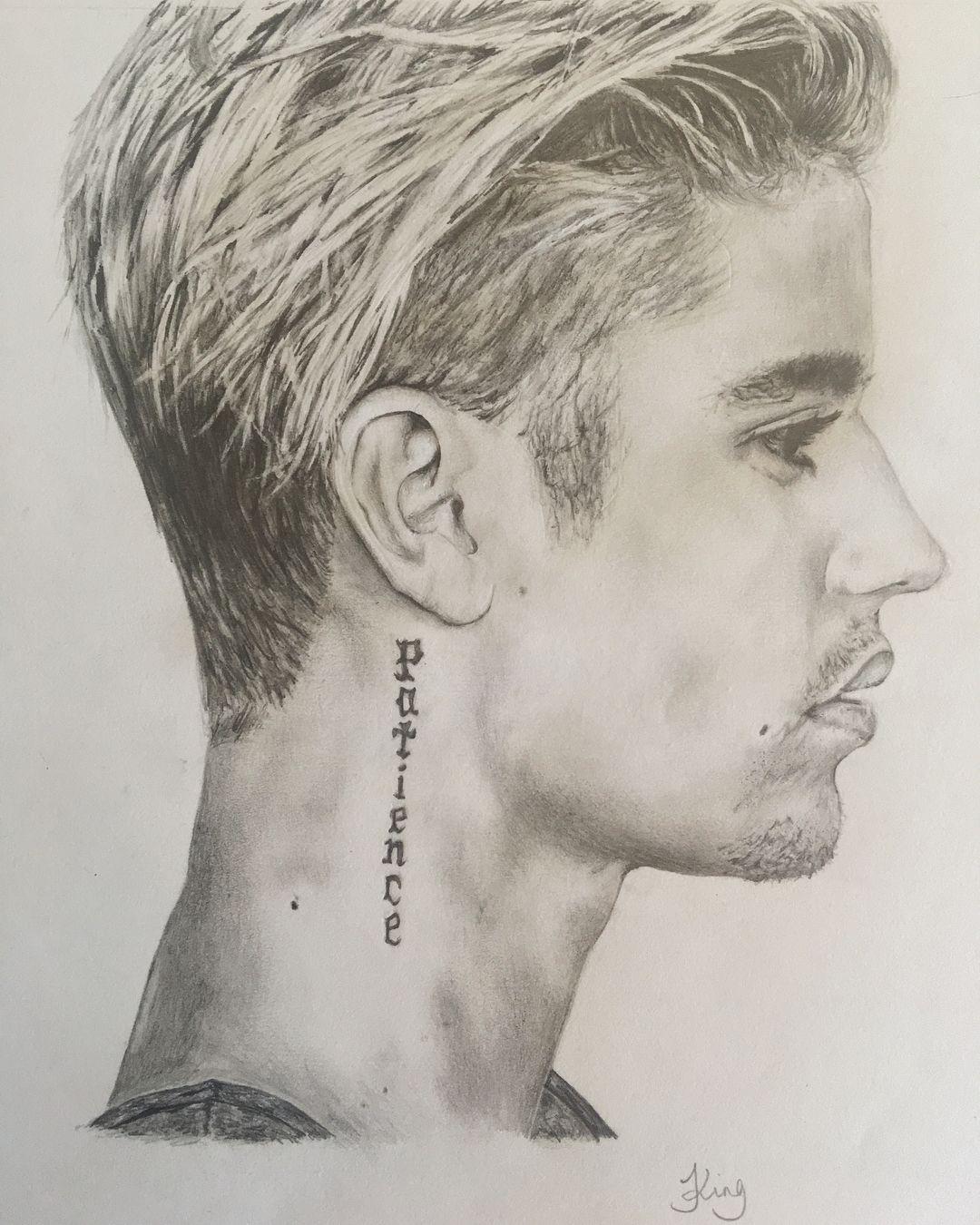 """Jasmine King On Instagram: """"Justin Bieber. 2015. #Realism intérieur Dessin De Justin Bieber"""