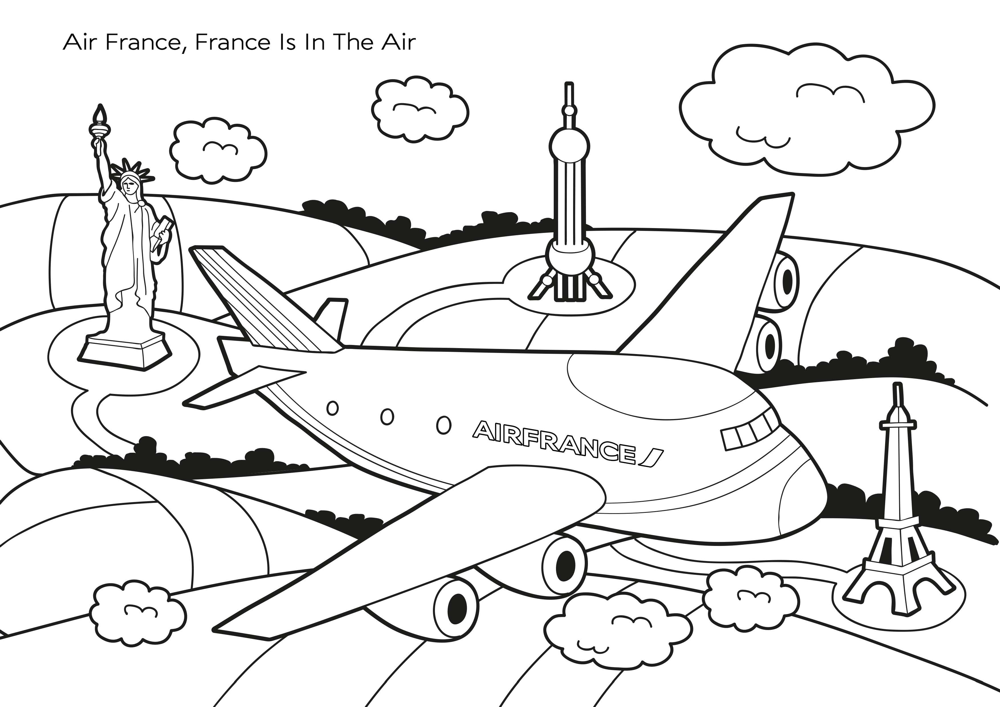 Je Colorie Mon Avion Air France ! - Momes concernant Coloriage Avion