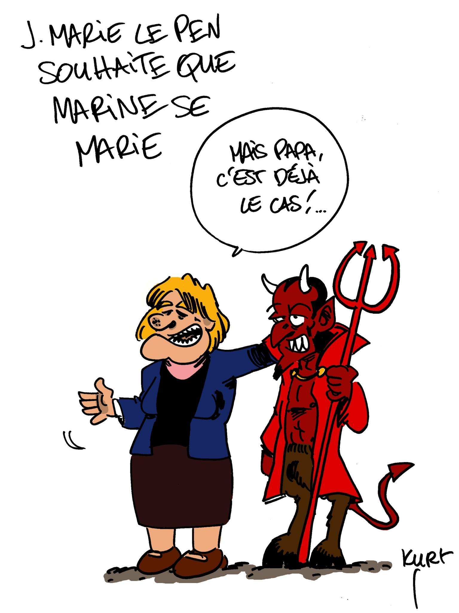 Jean Marie Le Pen : Tous Les Messages Sur Jean Marie Le dedans Dessin Du Diable