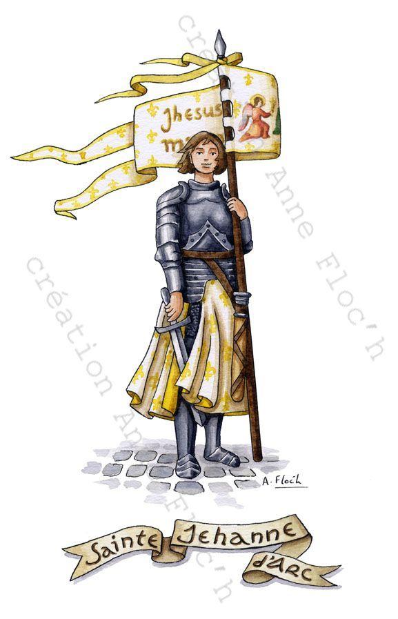 Jeanne3 (Avec Images) | Jeanne D'Arc, Aquarelle, Catho serapportantà Dessin Magique Ste Jeanne D'Arc