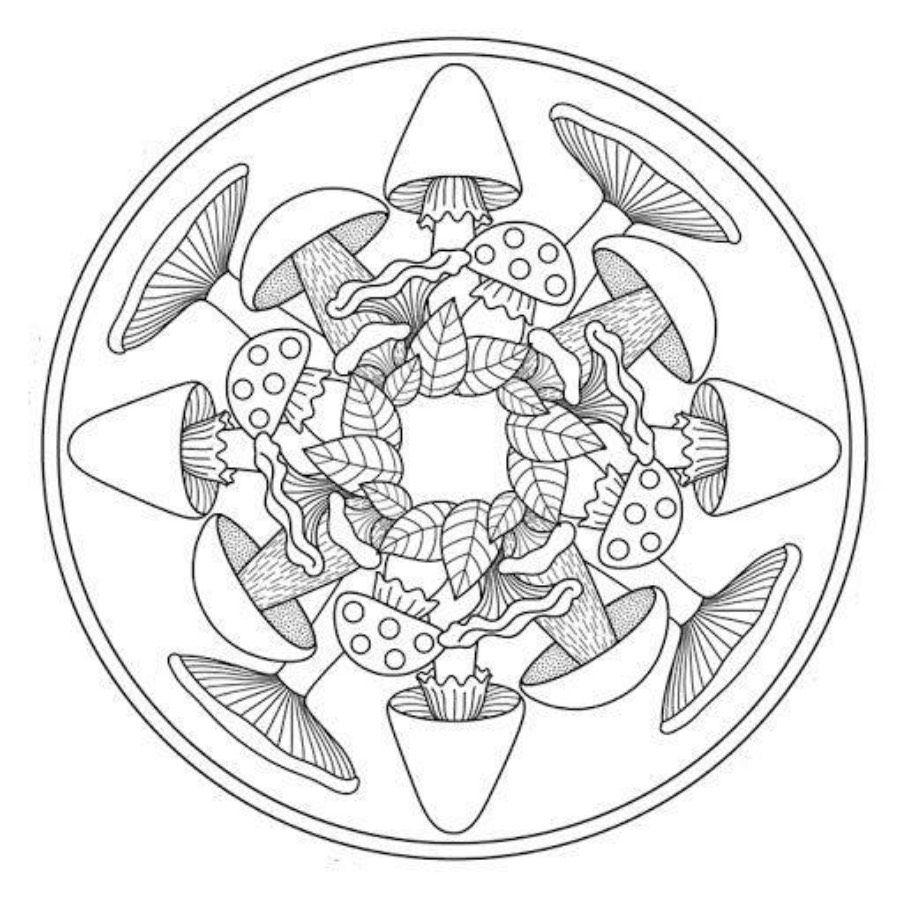 Jesień: Mandale Kolorowanki Do Wydruku Dla Dzieci, Piękne concernant 100 Greatest Mandala Coloring Book: