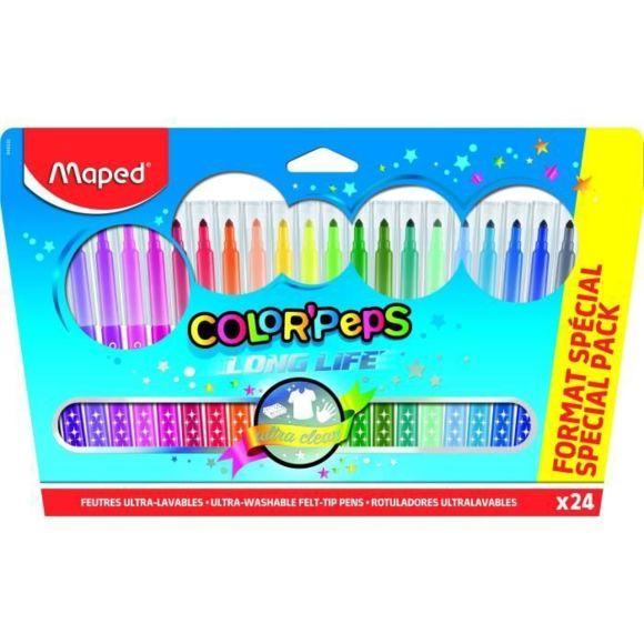 Jeu De Coloriage - Dessin - Pochoir 24 Feutres Color'Peps à Feutres Coloriage Pas Cher