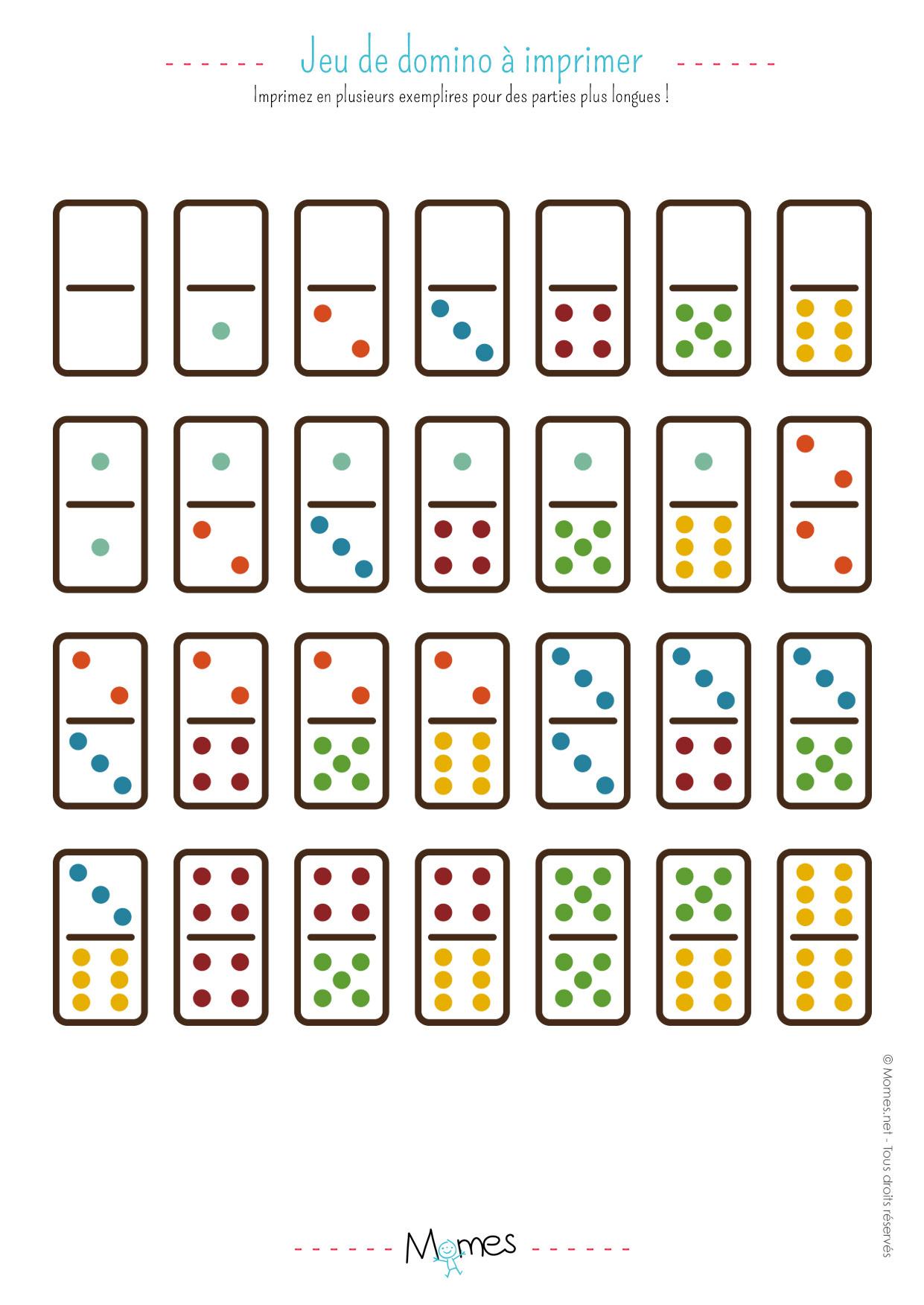 Jeu De Dominos À Imprimer - Momes Dedans Jeux De avec Jeu De Dedans