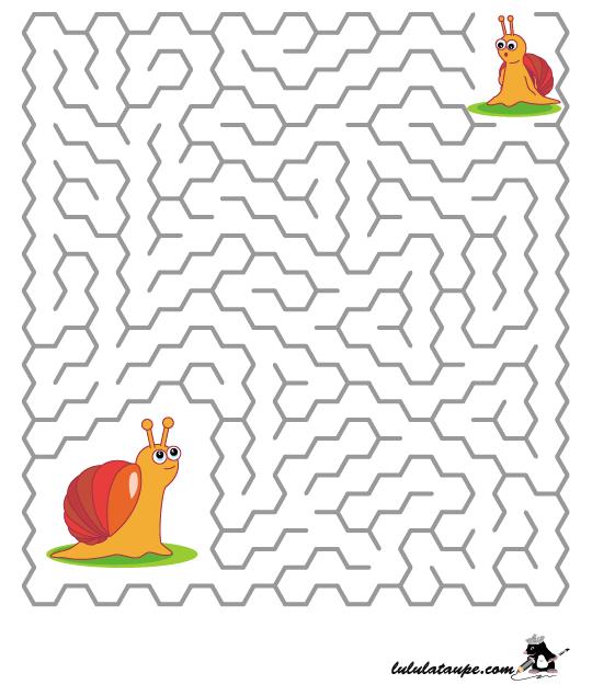 Jeu De Labyrinthe Gratuit, Les Escargots - Lulu La Taupe serapportantà Jeux Labyrinthe Difficiles