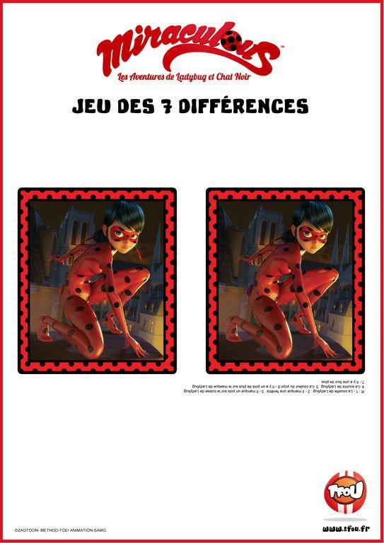 Jeu Des 7 Différences - Miraculous - Tfou   Jeux Des 7 serapportantà Tfou Gratuit