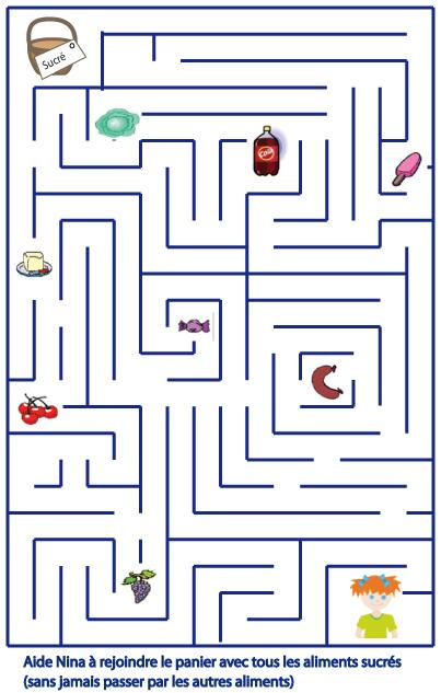 Jeu Enfant : Jeu Sur Les Aliments Sucres - Enfant Tete A à Jeux Labyrinthe Difficiles
