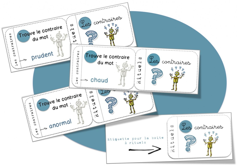 Jeux De Cartes 'Rituels' | Ecole : Vocabulaire | Lecture pour Chaque Jour Compte Rituel Anglais Cm