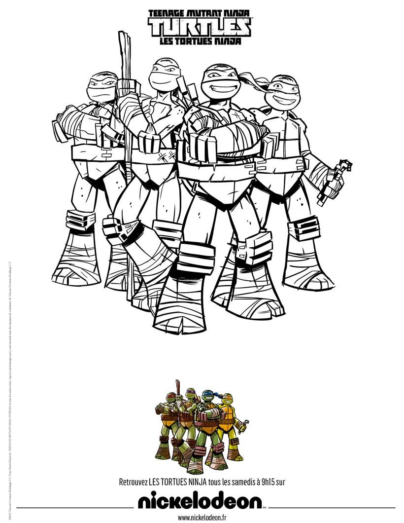 Jeux De Coloriage Tortues Ninja dedans Coloriage De Tortue À Imprimer
