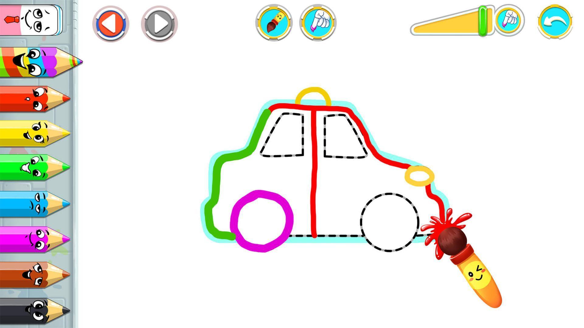 Jeux De Voiture Dessin : Apprendre A Dessiner Pour Android dedans Jeux Coloriage Android