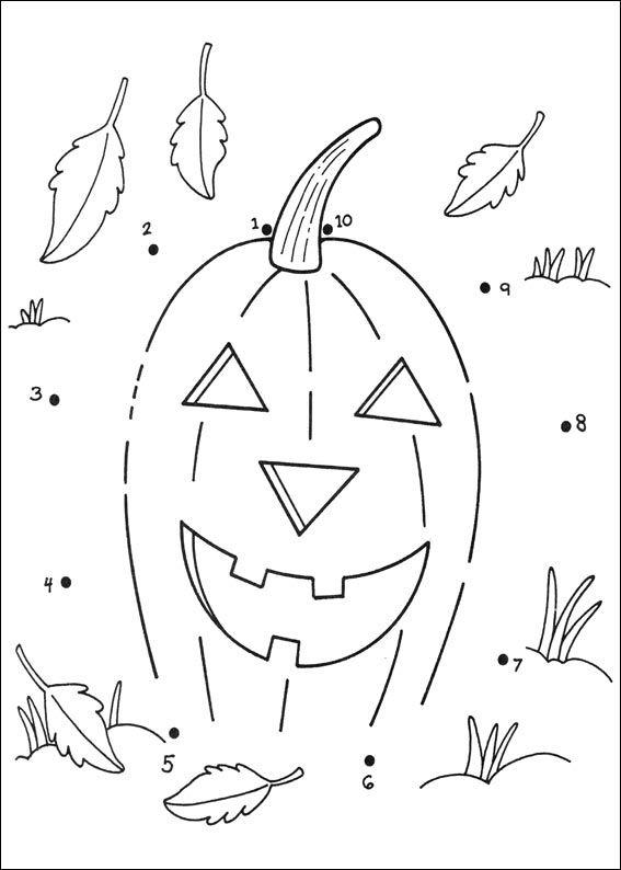 Jeux Du Dessin En Points À Relier | Halloween | Bricolage concernant Point ? Relier Alphabet Coloriage