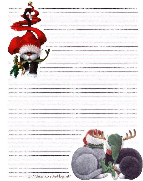 Joli Papier À Lettre Noel Format Word | Lettre De Noel destiné Papier À Lettre Pere Noel