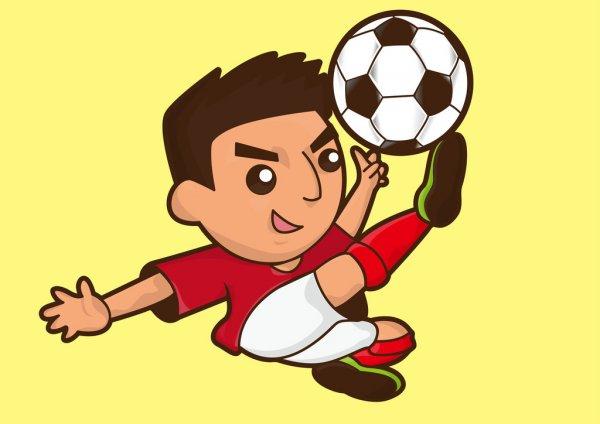 Joueur De Foot Garçon Dessin Animé — Image Vectorielle pour Dessin Animé De Foot