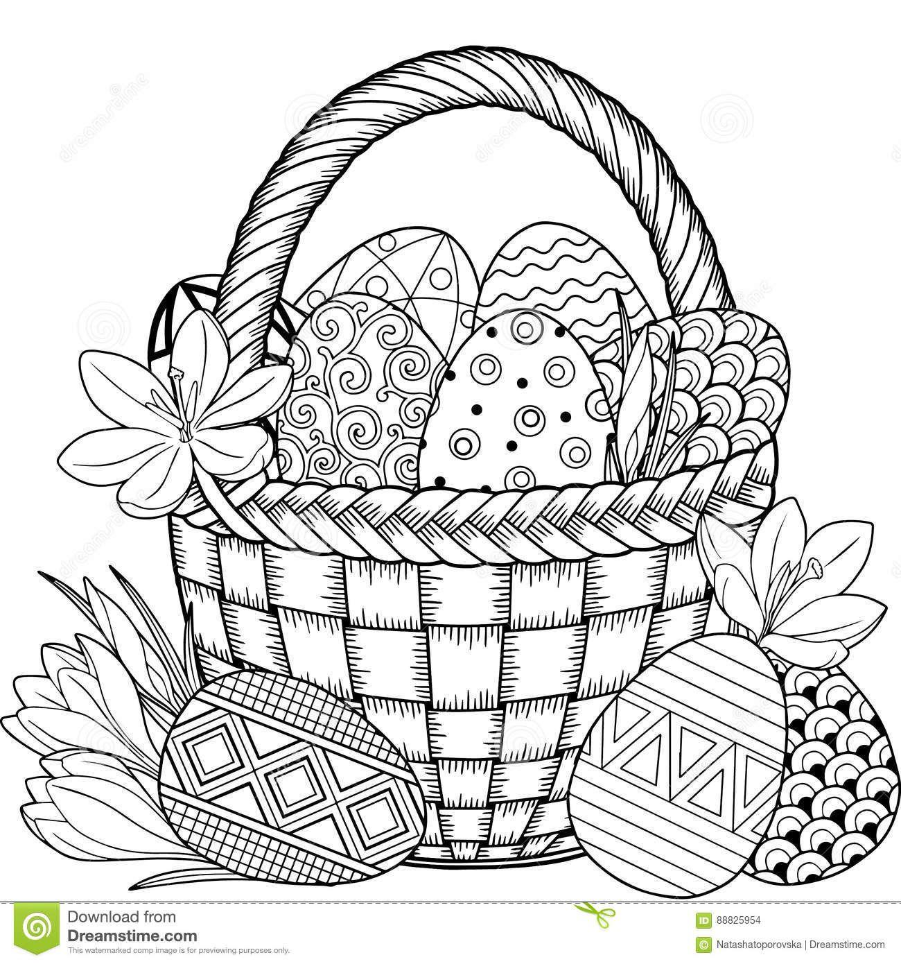 Joyeuses-Pâques-Oeufs-De-Pâques-Noirs-Et-Blancs-De tout Coloriage À Imprimer Joyeuses Pâques