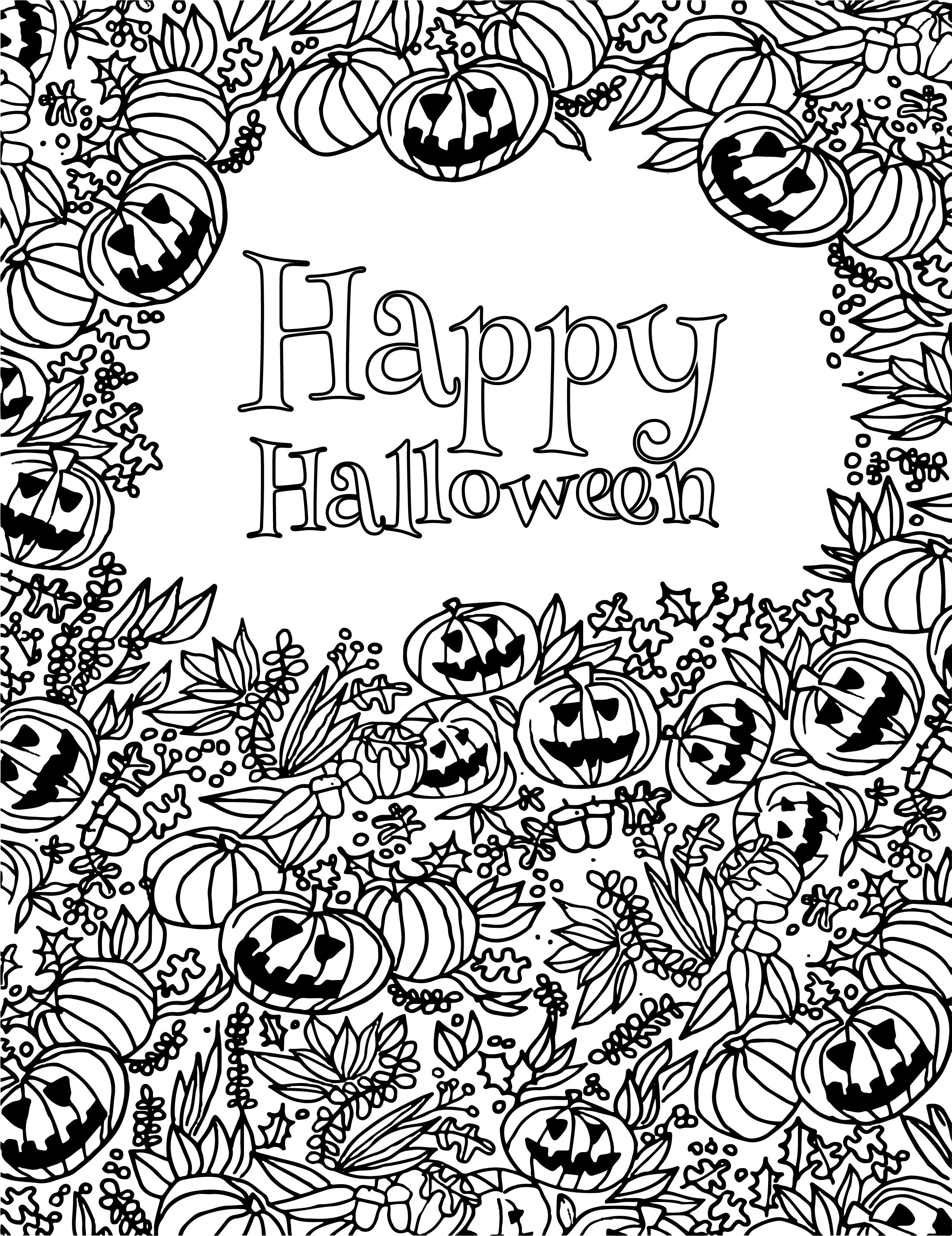 Joyeux Halloween Party Coloriage 31 Octobre - Artherapie.ca concernant Coloriages Halloween À Imprimer Gratuitement