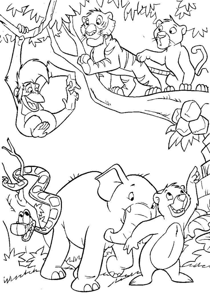 Jungle Book Coloring Pages – Coloring Pages Disney intérieur Coloriage Animaux De La Jungle Gratuit