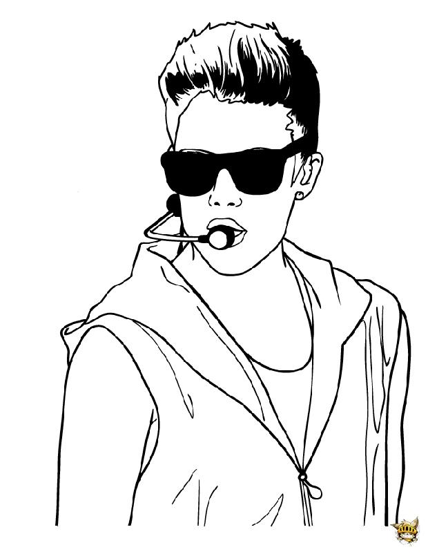 Justin En Concert Est Un Coloriage De Justin Bieber encequiconcerne Dessin De Justin Bieber