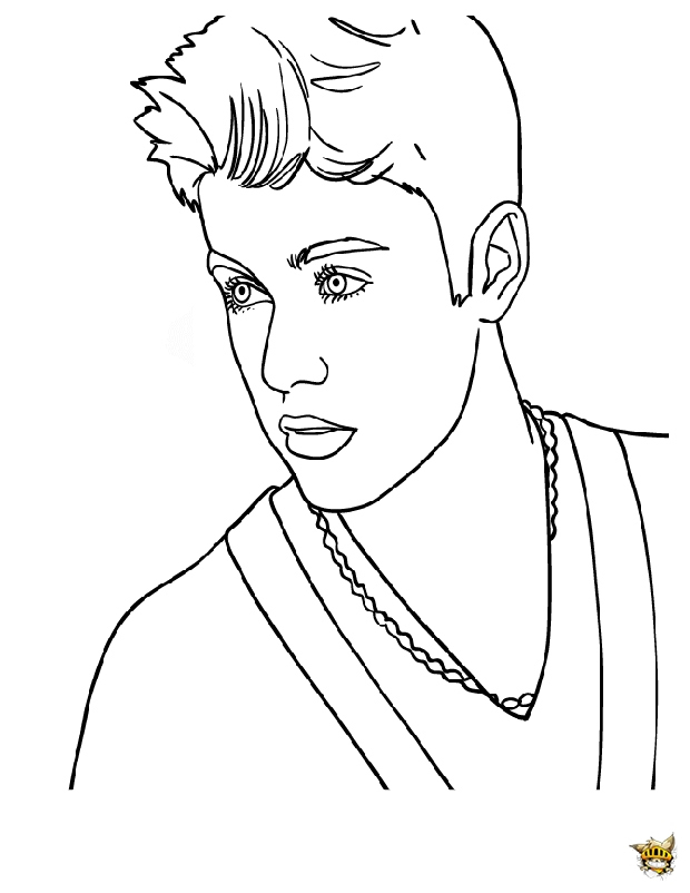 Justin Pose Est Un Coloriage De Justin Bieber avec Dessin De Justin Bieber