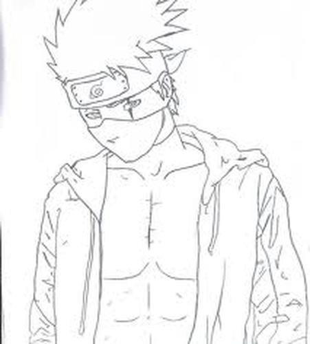 Kakashi Hatake - Le Dessin : Ma destiné Coloriage Naruto Et Kakashi