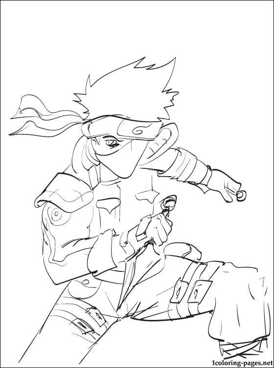 Kakashi Hatake Naruto Coloring Page | Coloring Pages serapportantà Coloriage Naruto Et Kakashi